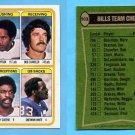 1978 Topps Football #503 Buffalo Bills Team Leaders / O.J. Simpson ExMt