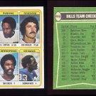 1978 Topps Football #503 Buffalo Bills Team Leaders / O.J. Simpson Ex