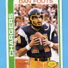 1978 Topps Football #499 Dan Fouts - San Diego Chargers