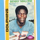 1978 Topps Football #493 Benny Malone - Miami Dolphins