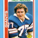 1978 Topps Football #492 Troy Archer - New York Giants