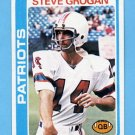 1978 Topps Football #485 Steve Grogan - New England Patriots