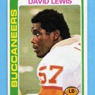 1978 Topps Football #484 David Lewis RC - Tampa Bay Buccaneers