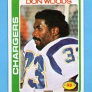 1978 Topps Football #459 Don Woods - San Diego Chargers
