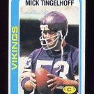 1978 Topps Football #451 Mick Tingelhoff - Minnesota Vikings