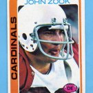 1978 Topps Football #444 John Zook - St. Louis Cardinals