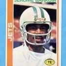 1978 Topps Football #442 Jerome Barkum - New York Jets