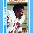 1978 Topps Football #441 Leon Gray - New England Patriots