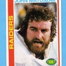 1978 Topps Football #439 John Matuszak - Oakland Raiders