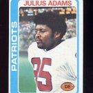1978 Topps Football #401 Julius Adams - New England Patriots ExMt