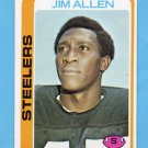 1978 Topps Football #391 Jim Allen RC - Pittsburgh Steelers