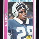 1978 Topps Football #389 James Hunter - Detroit Lions Vg