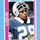 1978 Topps Football #389 James Hunter - Detroit Lions ExMt