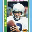 1978 Topps Football #383 Jim Zorn - Seattle Seahawks