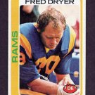 1978 Topps Football #366 Fred Dryer - Los Angeles Rams