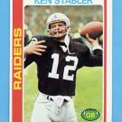 1978 Topps Football #365 Ken Stabler - Oakland Raiders