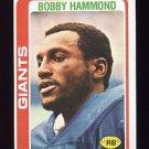 1978 Topps Football #352 Bobby Hammond - New York Giants ExMt
