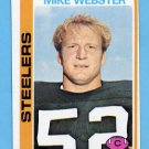 1978 Topps Football #351 Mike Webster - Pittsburgh Steelers