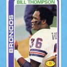 1978 Topps Football #340 Bill Thompson - Denver Broncos
