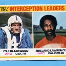 1978 Topps Football #335 Interception Leaders / Lyle Blackwood / Rolland Lawrence