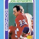 1978 Topps Football #328 Jon Keyworth - Denver Broncos