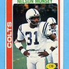 1978 Topps Football #299 Nelson Munsey - Baltimore Colts