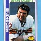 1978 Topps Football #276 Diron Talbert - Washington Redskins NM-M