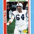 1978 Topps Football #261 David Taylor - Baltimore Colts