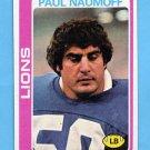 1978 Topps Football #253 Paul Naumoff - Detroit Lions