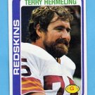 1978 Topps Football #236 Terry Hermeling - Washington Redskins