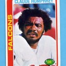 1978 Topps Football #230 Claude Humphrey - Atlanta Falcons