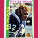 1978 Topps Football #219 Don Testerman - Seattle Seahawks ExMt