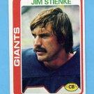1978 Topps Football #208 Jim Stienke - New York Giants