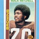 1978 Topps Football #204 Mack Mitchell - Cleveland Browns ExMt