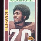 1978 Topps Football #204 Mack Mitchell - Cleveland Browns Vg