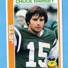 1978 Topps Football #186 Chuck Ramsey - New York Jets