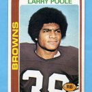 1978 Topps Football #184 Larry Poole - Cleveland Browns