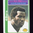 1978 Topps Football #170 Cleveland Elam - San Francisco 49ers ExMt