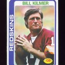 1978 Topps Football #155 Bill Kilmer - Washington Redskins NM-M