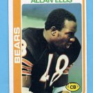 1978 Topps Football #132 Allan Ellis - Chicago Bears NM-M