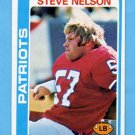 1978 Topps Football #116 Steve Nelson - New England Patriots
