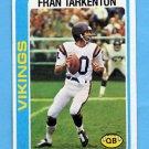 1978 Topps Football #100 Fran Tarkenton - Minnesota Vikings