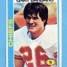 1978 Topps Football #097 Gary Barbaro RC - Kansas City Chiefs