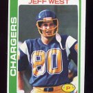 1978 Topps Football #088 Jeff West - San Diego Chargers ExMt