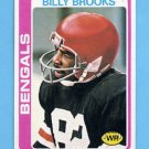 1978 Topps Football #074 Billy Brooks - Cincinnati Bengals NM-M
