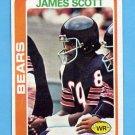 1978 Topps Football #52 James Scott - Chicago Bears