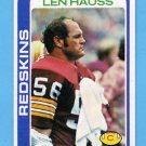 1978 Topps Football #051 Len Hauss - Washington Redskins