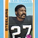 1978 Topps Football #044 Glen Edwards - Pittsburgh Steelers