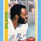 1978 Topps Football #037 Ken Burrough - Houston Oilers