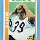 1978 Topps Football #032 Robin Earl - Chicago Bears